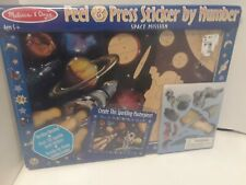 Melissa & Doug Peel & Press Sticker by Number, Space Mission- Sealed