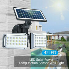 Solar Wall Light 100W 42LED Outdoor Yard Garden Lamp PIR Motion Sensor Rotatable