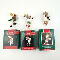 Lot of (3) Hallmark Keepsake Reindeer Champs Donder Cupid Vixen Ornament