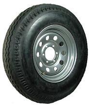 "16"" 6-5.5"" Bolt Circle Silver Modular Wheel and ST23580R16E Radial Trailer Tire"
