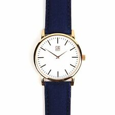 GENT WATCHES UK - MINIMALIST ROSE GOLD WATCH/CANVAS STRAP – ATHOS II RRP £99.99