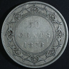 1873 Newfoundland Silver Fifty Cents - Nice Condition