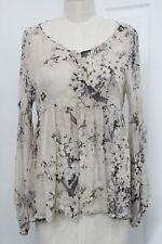 Zara NWT Silk Chiffon Gathered Top Blouse Size L MSRP $79