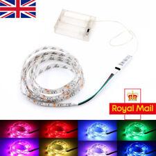 1M Multi-color LED Strip Lights RGB 5V +Battery Box +Controller Battery Powered