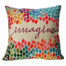 Imagine Beautiful Linen Square Pillow Cushion Cover.