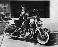 Elvis Presley / Harley Davidson Motorcycle 8x10 photo 🎸