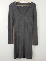 BENCH | Womens Grey Wool Blend Knit Tunic Dress [ Size AU 12 or US 8 ]