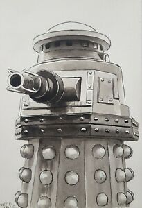 DR DOCTOR WHO ORIGINAL ART - 'SPECIAL WEAPONS DALEK' Remembrance of the Daleks