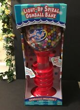 "Lighted SPIRAL GumBall Machine Bank 21"" Tall Holds 999 Gum Balls Toy Dispenser"
