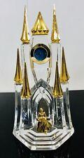 Disney Franklin Mint Austrian Crystal Cinderella's Castle Clock! 24K Gold Plate