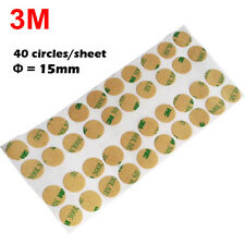 Dia=15mm,Thin 0.05mm thick,3M Double Adhesive Round Sticker for Paper Metal Glas