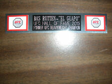 BAS RUTTEN (UFC) NAMEPLATE FOR SIGNED TRUNKS DISPLAY/PHOTO/PLAQUE