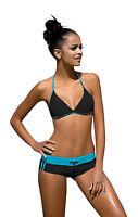Womens Sport Swimming Costume Two Piece Bikini Set Size UK 8 - 14