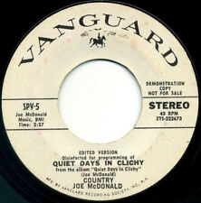 "COUNTRY JOE McDONALD Quiet Days In Clichy 7"" 1970 Vanguard promo VG"