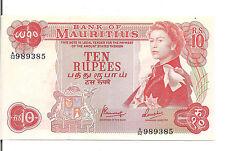 MAURITIUS, 10 RUPEES, QEII, ND(1967), UNC