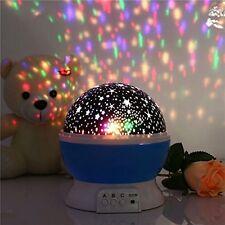 NEW Projector Moon stars Table Nightlight Lamp for Children Baby Bedroom Light