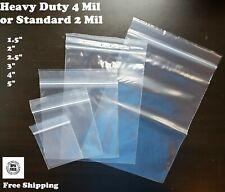 Zip Top 2 4mil Clear Small Plastic 15x 2x 3 4 5 Reclosable Lock Jewelry Bag