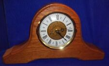 Solid Oak Handcrafted Mantel Clock By Oakwood Crafts, Made in Usa - Works