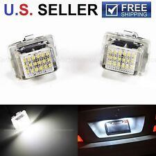 2x HID White Error Free LED License Plate Light Mercedes W221 C216 W212 W204 C63