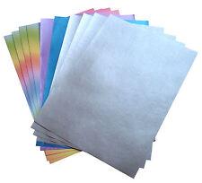 Pack 10 Scrapbooking Karte machen vermischt A4 Papier Blätter - Silber, lila,