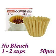 New Cafe de Tiamo K01 155 Non Bleach Coffee Filter Paper 50 pcs (HG3253)