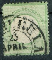 Deutsches Reich Brustschild MiNR 3 gestempelt Hufeisenstempel Hamburg