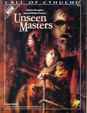 JDR RPG JEU DE ROLE / CALL OF CTHULHU UNSEEN MASTERS
