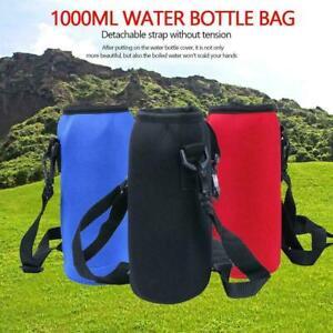 1000ML Water Bottle Carrier Insulated Cover Bag Neoprene Holder Strap OutdoR/_ti