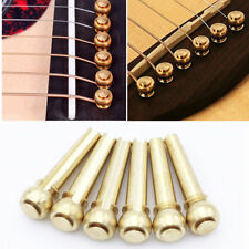 Guitar bridge pins set of 6 brass bridge pins Freya