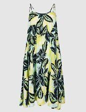 Ex Marks & Spencer dress Green yellow white palm Beach Holiday Wear Lightweight