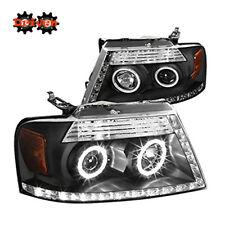 04-08 Ford F150 Harley Lighting Black Projector R8 L DRL LED Headlights Mark LT