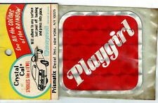 Vintage Prismatic sticker 70's Red Playgirl Feminist Sexy Retro Van Hot Rod