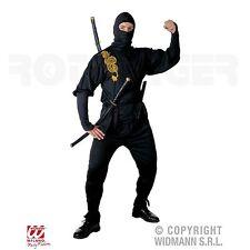Ninja mehrteiliges Herren Kostüm S 48/50 Fasching Karneval Samurai Kämpfer 3919S