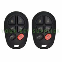 2 New Replacement Keyless Entry Remote Key Fob Transmitter for 6B Van GQ43VT20T