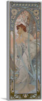 ARTCANVAS Evening Reverie Reverie Du Soir Panoramic Canvas Print Alphonse Mucha