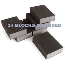 Sanding Blocks Wet & Dry Foam Backed Pads Sand Paper Grit Sanding*