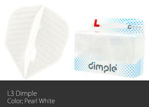 L-Style Dimple Champagne Small Standard Dart Flight Pearl White set of 3