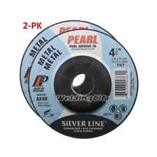 2-PK Pearl Abrasive DC4510T Depressed Center Grinding Wheel 4-1/2 x 1/4 x 7/8