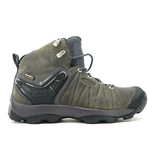 Keen Mens Venture Mid Gray Nylon WP Outdoor Hiking Boots Shoes Size US 8.5 EU 41