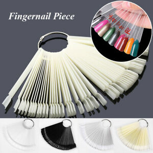 50 Display Nail Art Wheel Fan Polish Practice Color Gel Nail Tip Sticks Swatches