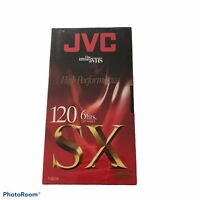 JVC SX T-120 High Performance New/Blank VHS Tape 6 Hour Sealed