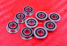 5pcs MF148-2RS (8x14x4 mm) Flanged Metal Rubber Sealed Ball Bearing MF148RS