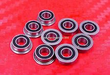 25pcs F604-2RS (4x12x4 mm) Flanged Metal Rubber Sealed Ball Bearing F604RS