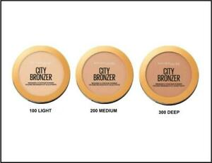 MAYBELLINE City Bronzer and Contour Powder CHOOSE COLOUR light medium deep
