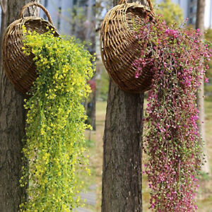 Fake Artificial Flower Hanging Garland Plants Ivy Vine Wedding Party Home Decors