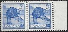 Canada  # 336 Pair  WILDLIFE - BEAVER   VF-NH  Brand New 1954  Pristine Issue