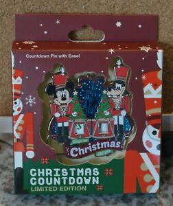 2019 Disney Christmas Countdown Mini Jumbo Pin - Nutcracker - Mickey and Goofy
