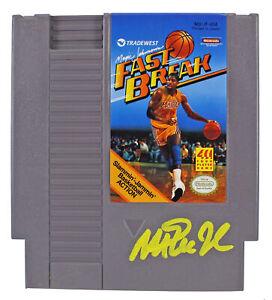 Magic Johnson Signed Nintendo Fast Break Video Game Cartridge BAS Witnessed