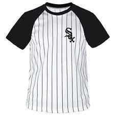 Chicago White Sox Stripe Baseball Raglan Dry fit Crew neck T-shirts tees Jersey
