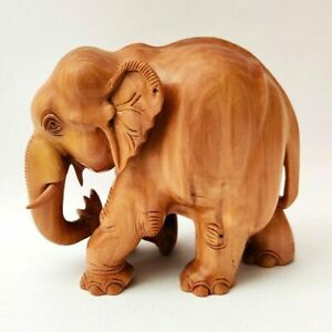 Trump Elephant Hand Carved Sandal Wood Sculpture Statue Home Décor Gift #US38